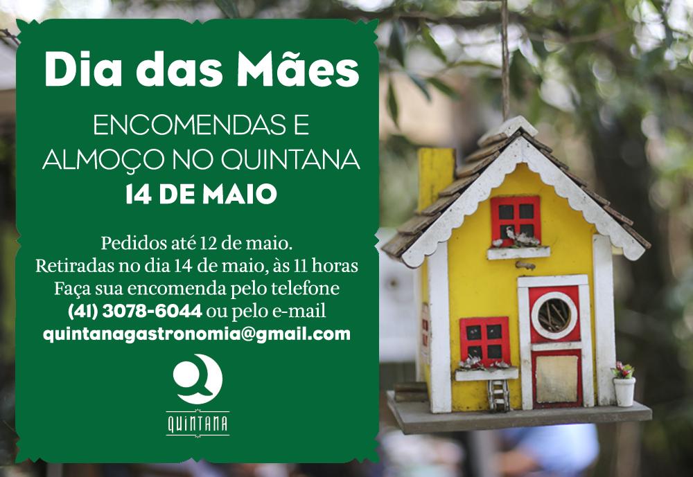 Dia das Mães – Encomendas e almoço no Quintana!